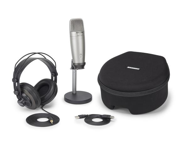 Samson Microphone Kit and Headphones