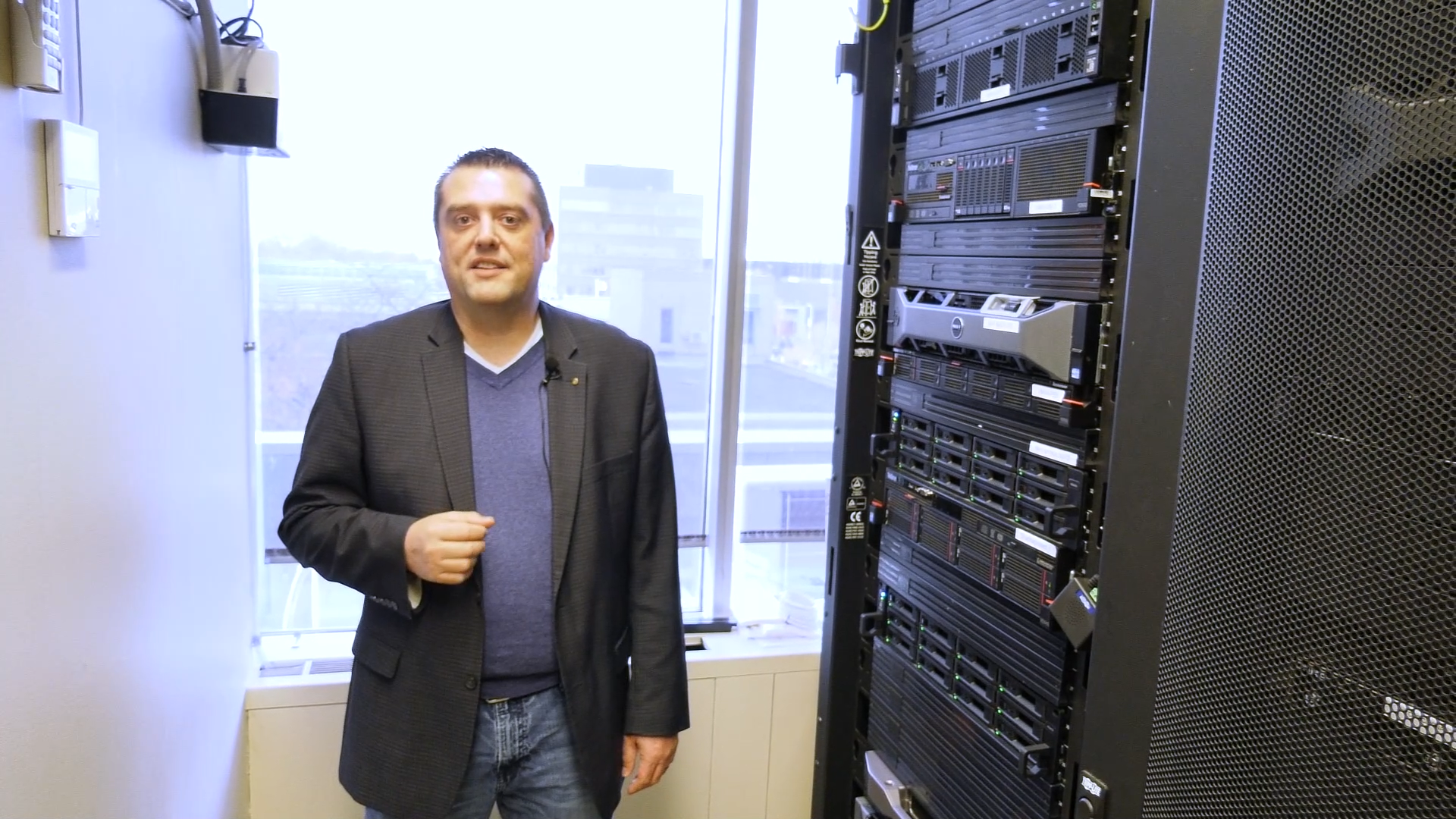 Serge standing in Server Room