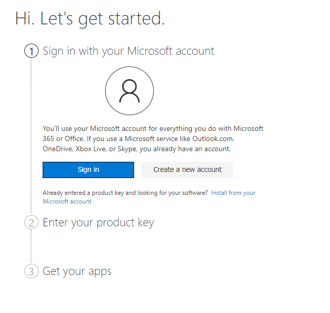 Microsoft Office 365 Setup Steps